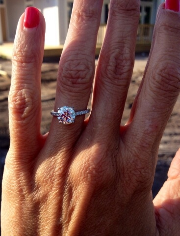 2 carat diamond pave engagement ring