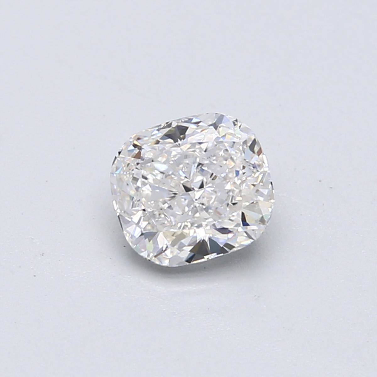 1 carat F color cushion cut diamond