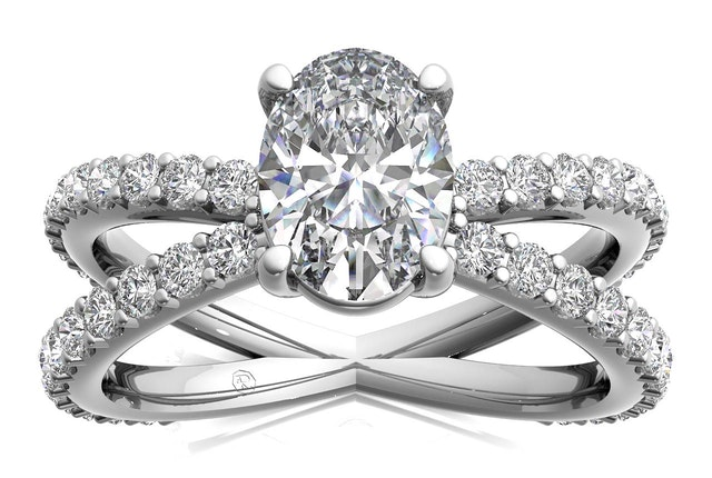 Ritani Engagement Ring Cross